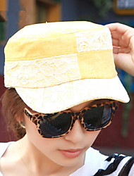 Fashion Folk Style Lace Flatcap Ladies Navy Cap Hat Duck Tongue