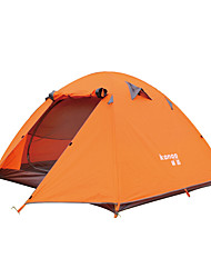 3-4 persons Tent Double One Room Camping Tent Aluminium PU Nylon MeshWaterproof Breathability Dust Proof Windproof Ultra Light(UL)