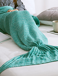 KnittedYarn-dyed Solid 100% Acrylic Blankets