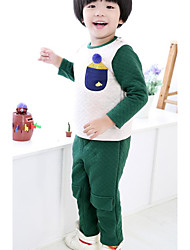 Boy Casual/Daily Solid Sets,Cotton Spring Fall Clothing Set