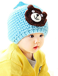Boy's Fashion Bear Winter Going out/Casual/Daily Knitting Keep Warm Thick Headgear Baby Hat Children Cotton-padded Cap