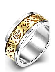 Anéis Casual Jóias Aço Masculino Anel 1peça,7 8 9 10 Prateado