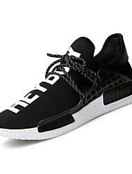 High Quality Men's Fashion Sneakers Comfort Athletic Shoes Casual Running Shoes Flat Heel Lace-up Black / Red / Dark Blue