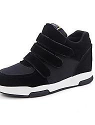 Women's Sneakers Fall Winter Comfort PU Casual Low Heel Magic Tape Black Pink Gray Others