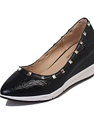 Women's Heels Spring Fall Other Comfort PU Office & Career Dress Casual Low Heel Rivet Others Black Silver Gold