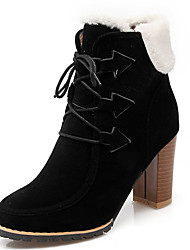 Women's Shoes Chunky Heel Round Toe Lace Up Ankle Boot More Color Available