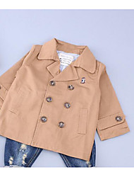 Girl Casual/Daily Solid Suit & Blazer,Cotton Winter Fall