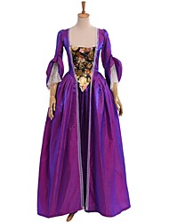Steampunk®Women Medieval Rococo  Women Medieval Baroque Dress Purple