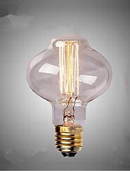 e27 de bulbes 40w soie filament de carbone à incandescence de lumière de l80 autour de la perle