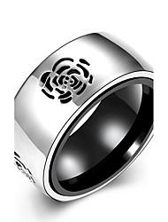 Anéis Diário Casual Jóias Aço Inoxidável Aço Titânio Masculino Anel 1peça,7 8 10 Prateado