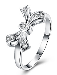 Ring Jewelry Brass Zircon Cubic Zirconia Silver Plated Silver Jewelry Party Daily Casual 1pc
