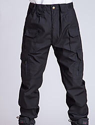 Men's Outdoor Flat Front Work Multi Pockets Quick-drying Casual Caro Swat Tactical Pants for Spring Summer Autumn