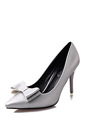 Women's Heels Fall / Winter Comfort PU Casual Low Heel Slip-on Silver / Gold Others
