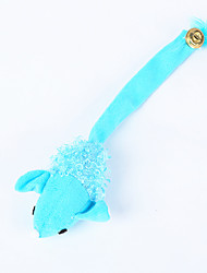 Cat Toy Pet Toys Chew Toy Rope Mouse Blue Textile