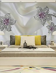 Art Decó 3D Fondo de pantalla Para el hogar Clásico Revestimiento de pared , Lienzo Material adhesiva requerida Mural , Revestimiento de