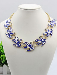 Women's Statement Necklaces / Alloy Simulated Diamond Animal Shape Animal Design Blue Jewelry Daily Casual 1pc