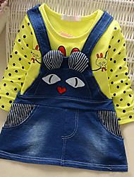 Robe Fille de Sortie Décontracté / Quotidien Sportif Imprimé Toile de jean Printemps Automne Manches longues