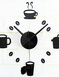DIY Fashion Creative Tableware Mute Wall Clock