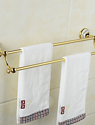Creative Wall Mounted Double Towel Bars Brass & Ceramics Bathroom Bath Towel Rods
