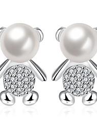 AAA Cubic Zirconia Drop Earrings Earrings Jewelry Women Halloween Wedding Party Daily Casual Sports Pearl Zircon Copper Silver Plated1