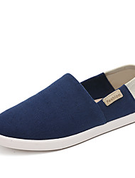 Women's Loafers & Slip-Ons Spring Summer Fall Comfort Espadrilles Fabric Office & Career Athletic Casual Flat Heel Split JointBlack Blue