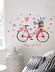 1Pcs 73Cm*110Cm  Warm Wall Stick Bike Flowers And Love