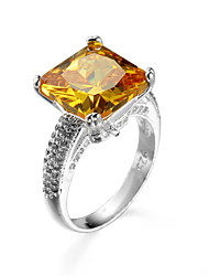 Cubic Zirconia Rings for Women Elegant Romantic Rings women Ornaments Golden Big Stone Rings 95084