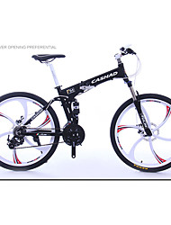 Mountain Bike Folding Bike Cycling 24 Speed 26 Inch/700CC SHIMANO Oil Disc Brake Suspension Fork Aluminium Alloy Frame Folding
