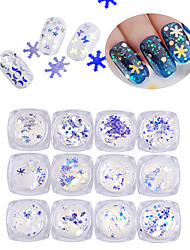 12pcs/lot 3mm Nail Jewelry Symphony Blue Nail Sequins