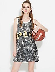Women's Plus Size Boho Swing Dress,Print Deep V Maxi Short Sleeve Polyester Red Spring Summer High Rise Micro-elastic