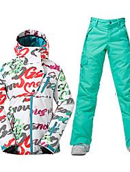 Sports Ski Wear Ski/Snowboard Jackets Women's Winter Wear Polyester Winter ClothingWaterproof Breathable Thermal / Warm Windproof Fleece