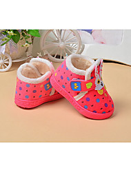 Kids' Baby Flats First Walkers Fabric Winter Casual First Walkers Flat Heel Brown Blushing Pink Under 1in
