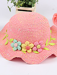 Girl's Fashion Cotton Summer Going out/Casual/Daily Flower Sand Beach Headgear Weave Straw Hat Children Cap