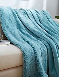 Flanela Como na Imagem,Sólido Sólido Lã / Acrílico cobertores S:100*120cm M:150*200cm L:200*230cm
