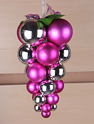 Christmas Balls Plastic Grape Bunches Of Light Matte Christmas Balls