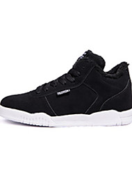 Men's Sneakers Winter Other Other Animal Skin Outdoor Flat Heel Lace-up Black Black/White Walking