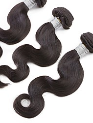 300g 3Pcs/lot 12'' 6A Grade Natural Color Hair Weaves Brazilian Human Hair Bundles Body Wave 6 Months  Hair Weft Extensions