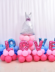 4PC 40Inch Random Color Solid color heart shape balloon aluminum foil balloons marry wedding decoration valentine heart shape balloons wholesale