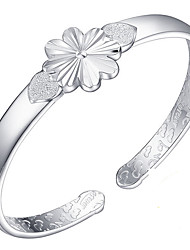 Women's Bangles Sterling Silver Fashion Flower Silver Jewelry 1pc