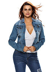 Women's Light Stone Wash Women Denim Jacket
