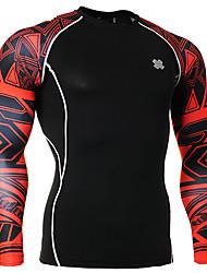 Corrida Blusas Homens Manga Comprida Respirável Elastano Corrida Esportivo Wear Sports Com Elástico Apertado Roupa Esportiva Preto