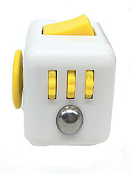 Stress Cube For Fidgeters! Relieve Stress Anxiety And Boredom All At Your Finger Tips. White/Black Color