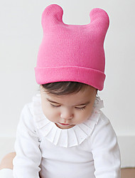 Unisex Knitting Cute Winter Going out/Casual/Daily Boy And Girl Keep Warm Headgear Solid Color Hat Children Cap