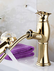 High Quality Gold  Pull Type Basin And Bathroom Faucet