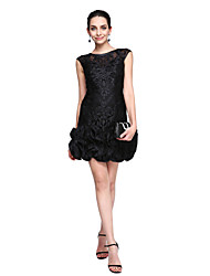 Sheath / Column Jewel Neck Short / Mini Lace Cocktail Party Homecoming Prom Dress with Flower(s) by TS Couture®
