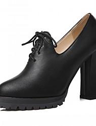Черный Бежевый Темно-коричневый-Для женщин-Свадьба Для офиса Для праздника Для вечеринки / ужина-Синтетика Лакированная кожа Дерматин