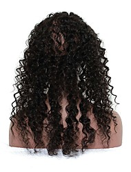 360 Lace Frontal with Cap Deep Wave Mongolian Virgin Hair Lace Frontal Natural Hairline 22.5*4*2