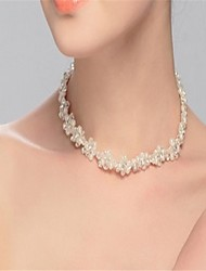 Women's Choker Necklaces Crystal Imitation Pearl Rhinestone Pearl Crystal Imitation Pearl Rhinestone Simulated Diamond Single Strand
