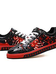 Herren-Sneaker-Lässig-PUAndere-Schwarz Gelb Schwarz Blau Schwarz Rot