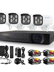 YanSe® 4CH AHD Waterproof Wired DVR Kit 720P HD IR Night Vision Security CCTV System 1200TVL